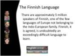 the finnish language