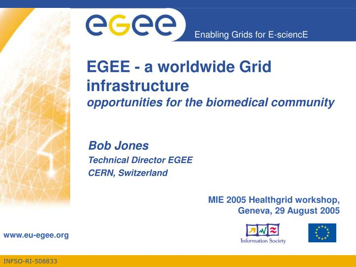 Egee a worldwide grid infrastructure opportunities for the biomedical community