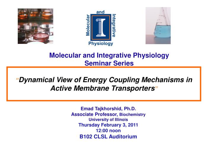 molecular and integrative physiology seminar series n.