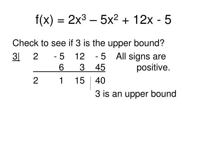 f(x) = 2x