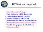 dc systems inspected