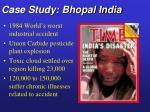 case study bhopal india
