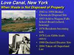 love canal new york when waste is not disposed of properly