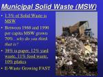 municipal solid waste msw