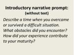introductory narrative prompt without text