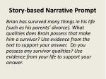 story based narrative prompt