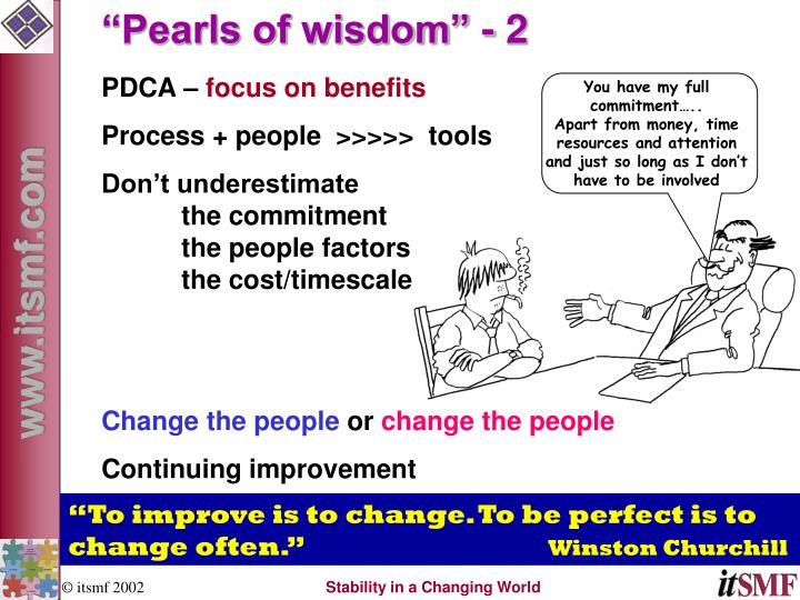"""Pearls of wisdom"" - 2"