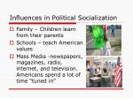 influences in political socialization