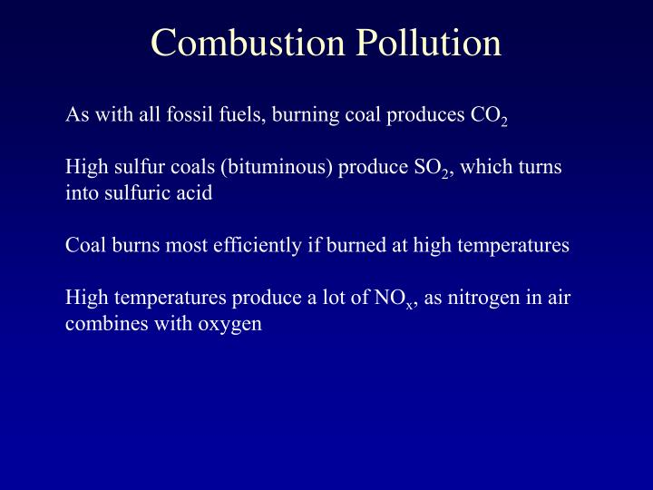 Combustion Pollution