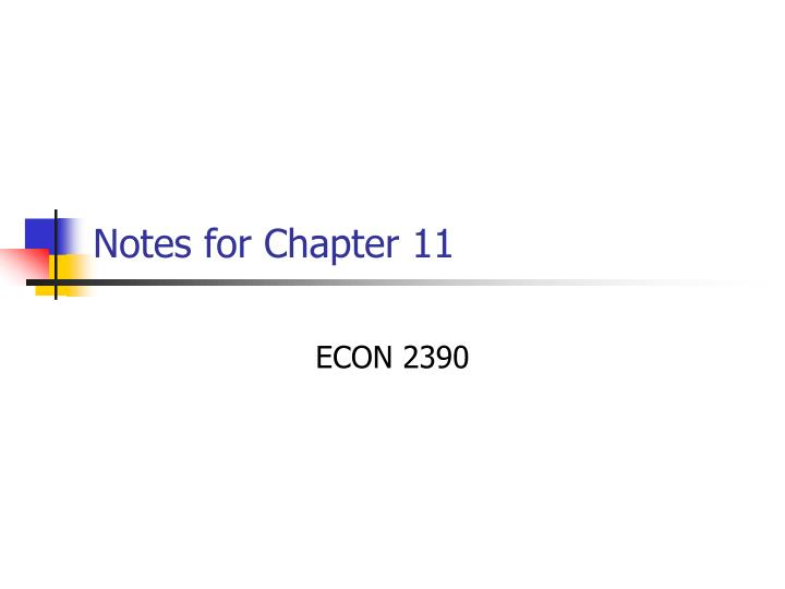 notes for chapter 11 n.