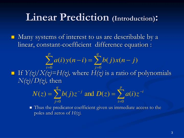 Linear prediction introduction1