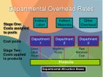 departmental overhead rates1