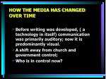 how the media has changed over time