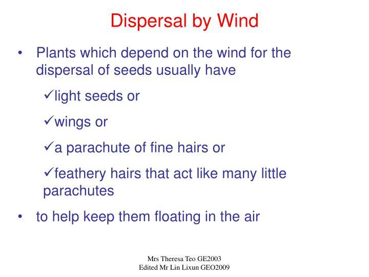 Dispersal by Wind