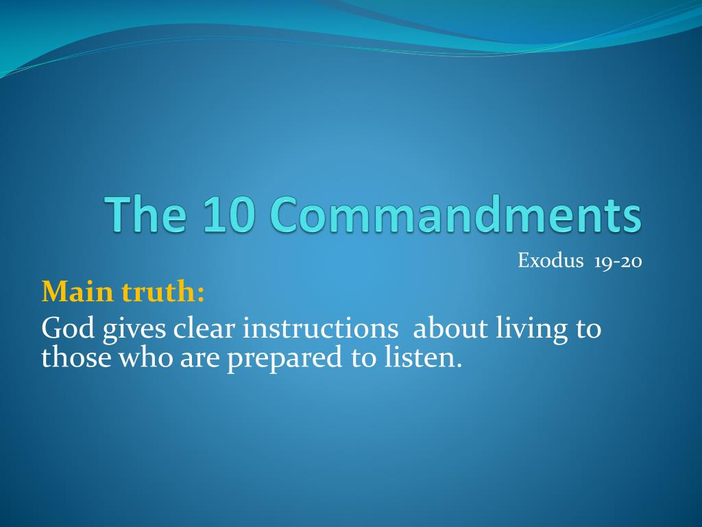 Ppt The 10 Commandments Powerpoint Presentation Free Download