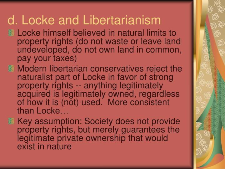 d. Locke and Libertarianism