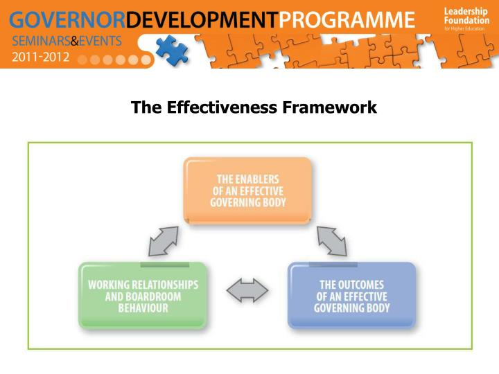 The Effectiveness Framework