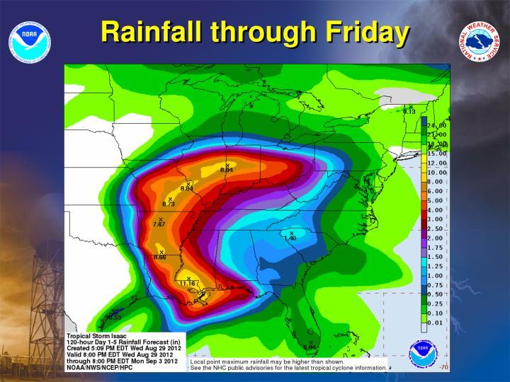 Rainfall through Friday