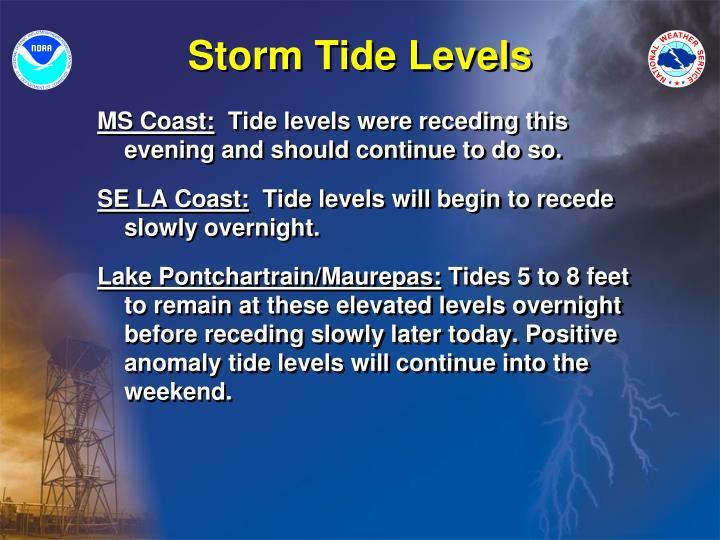 Storm Tide Levels