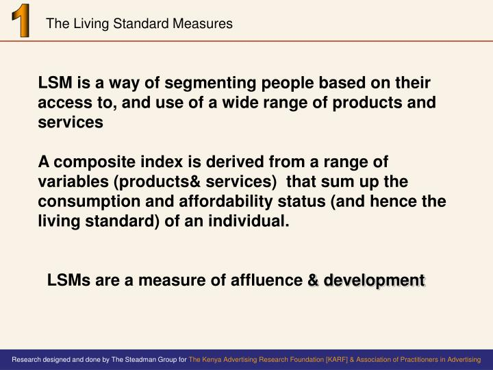 The living standard measures