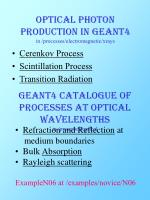optical photon production in geant4 in processes electromagnetic xrays