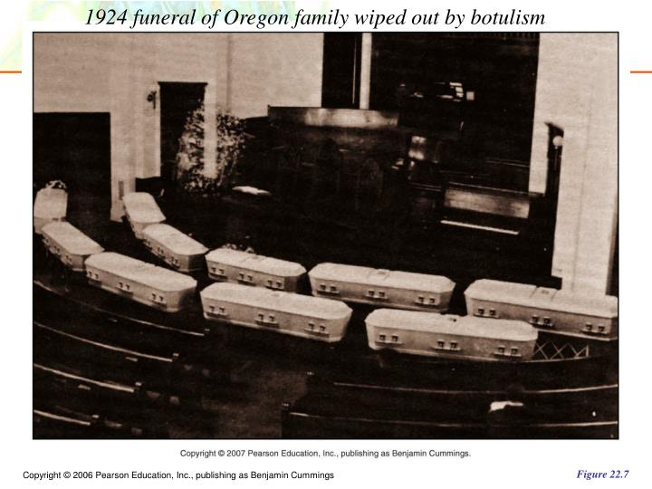 1924 funeral of Oregon family wiped out by botulism