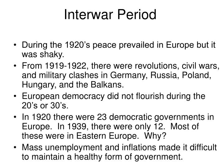 Interwar Period