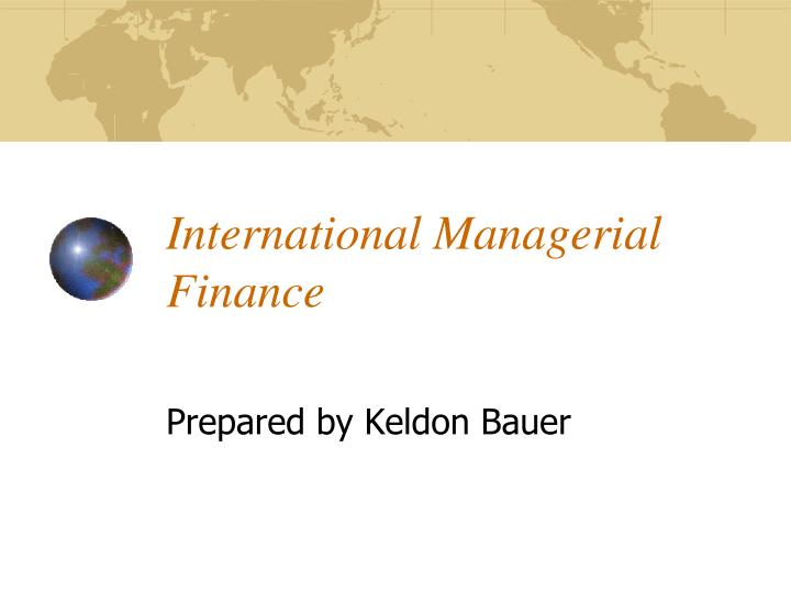 international managerial finance n.