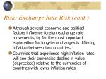 risk exchange rate risk cont2