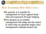 risk exchange rate risk cont4