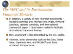 the mnc and its environment financial markets1