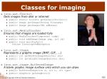 classes for imaging