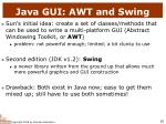java gui awt and swing