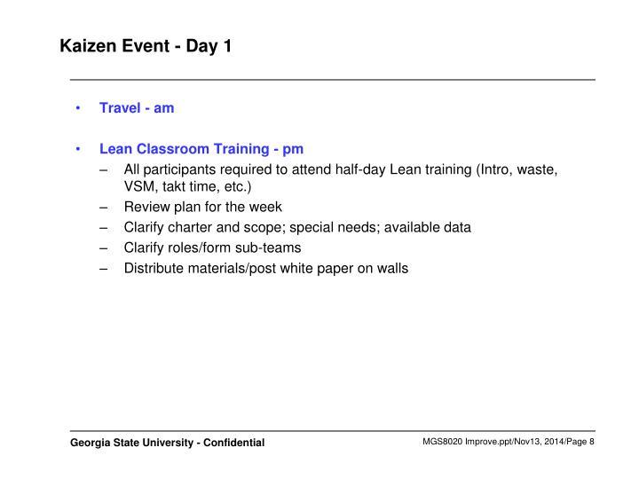 Kaizen Event - Day 1