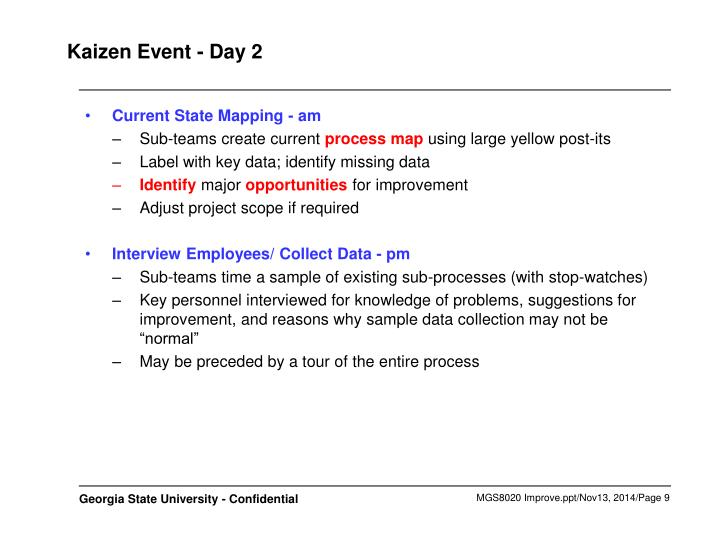 Kaizen Event - Day 2