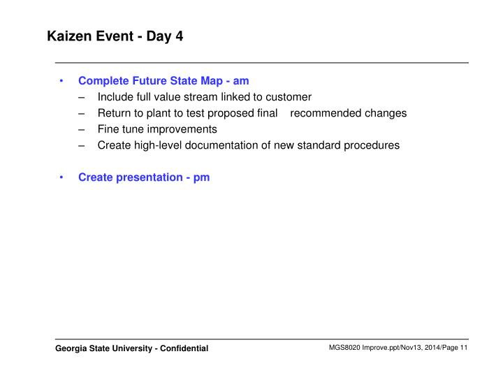 Kaizen Event - Day 4