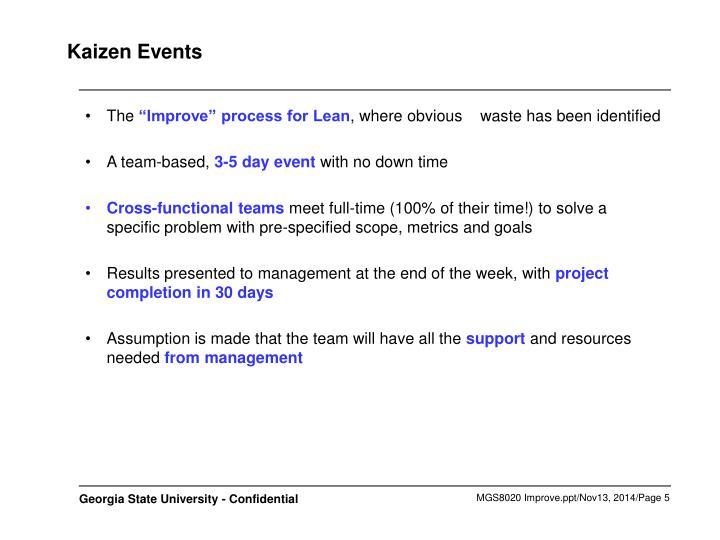 Kaizen Events