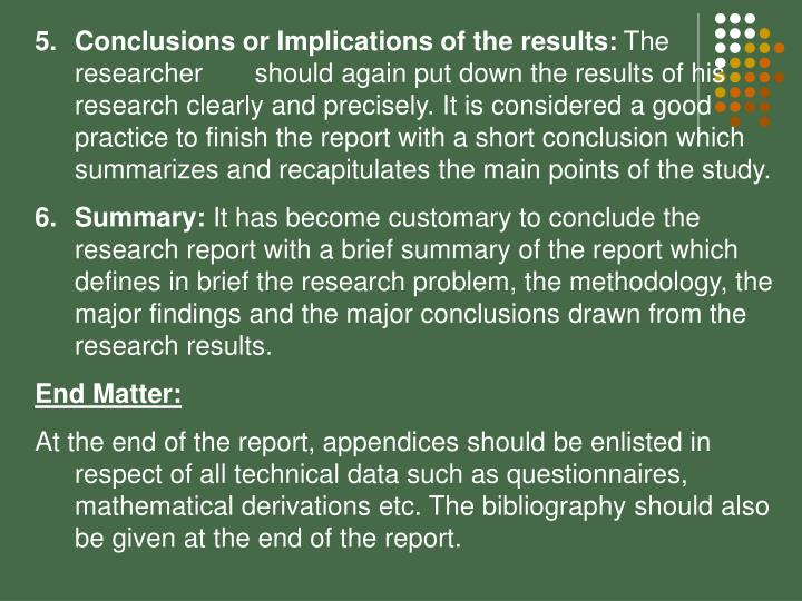 Conclusions or Implications of the results: