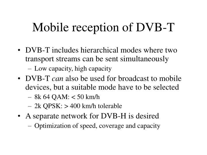 Mobile reception of DVB-T
