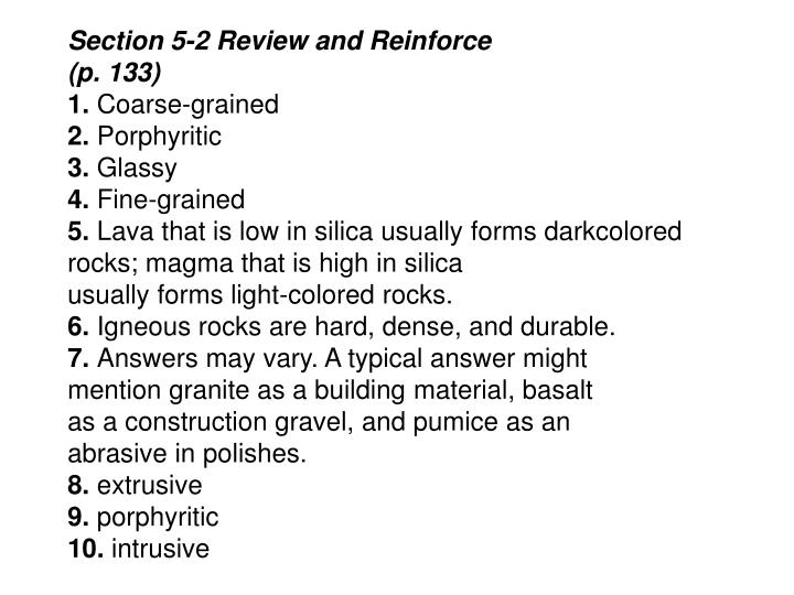 Ppt Inside Earth Chapter 5 Rocks Review And Reinforce Worksheet. Section 52 Review And Reinforce. Worksheet. Rock Worksheet Answer Key At Clickcart.co