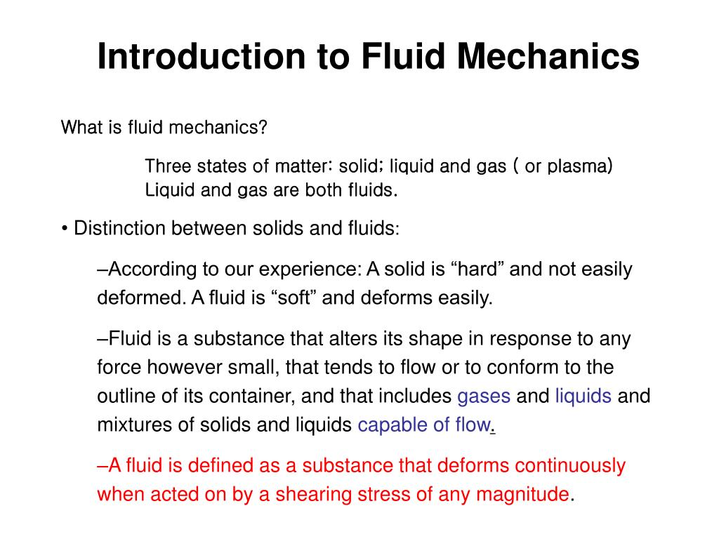 PPT - What is fluid mechanics? PowerPoint Presentation - ID:6901157