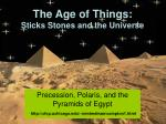 the age of things sticks stones and the universe