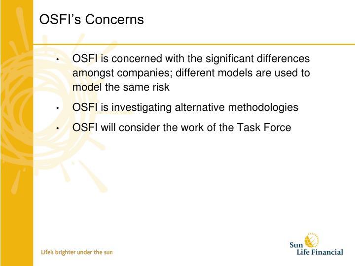 OSFI's Concerns