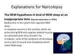 explanations for narcolepsy1