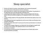 sleep specialist