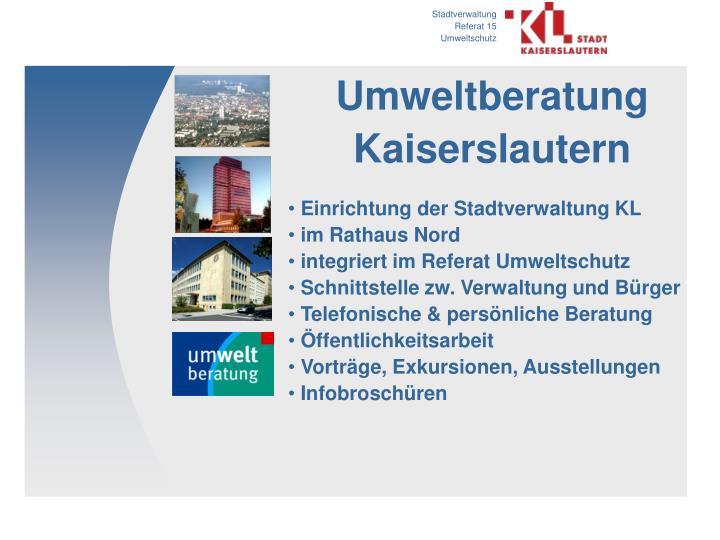 Umweltberatung Kaiserslautern
