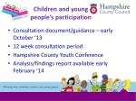 children and young people s participation