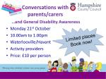 conversations with parents carers