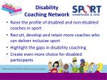 disability coaching network
