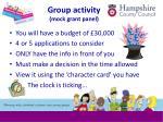 group activity mock grant panel